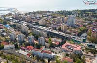 Прекрасный город Сочи с высоты птичьего полета