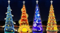 11 cамых впечатляющих и необычных рождественских елок со всей планеты