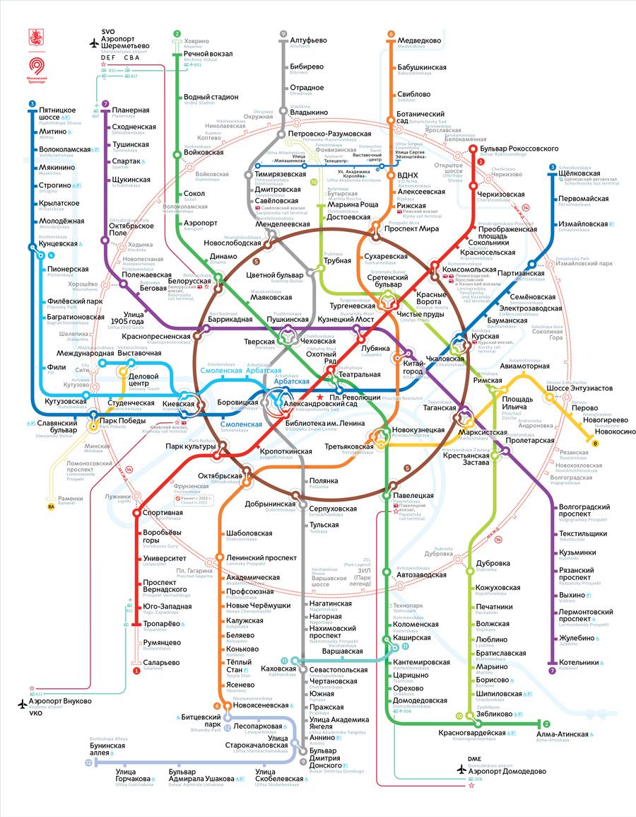 Москва | новости | на новой схеме метро укажут длинные пересадки.