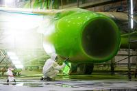 Как красят самолеты