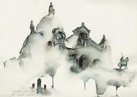 Корейская художница акварелью рисует города, которые посещает