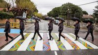 Болгарский художник превращает пешеходные переходы Мадрида в произведения искусства