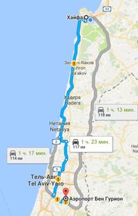 Дорога из БГ в Хайфу