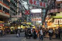 Улицы Гонконга весной