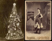 Женщины-баннеры 19 века, рекламирующие товары на своих платьях