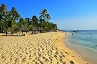 "Песок и ""грибки"" на пляже Фукуока"