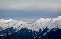 Кавказские горы, вид с Розы Плато