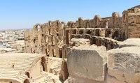 Амфитеатр в Эль-Джеме в солнечные дни выглядит впечатляюще