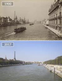 Фотографии «до и после», демонстрирующие, как изменился Париж за последние 100 лет