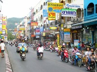 Patong beach — центральная улица