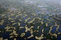 Почему в тундре так много озер, ведь осадков там не больше, чем в пустыне