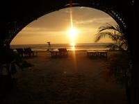 Закат на пляже Кавелоссим