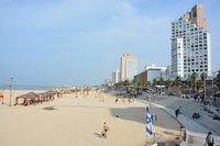 Пляж Frishman в апреле