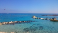 бирюзовое море на Кипре
