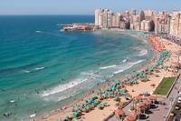 Пляж Александрии из окна гостиницы