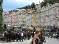 Чехия, Карловы Вары: главная площадь