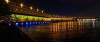 Вид на ночную плотину ДнепроГЭС